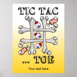 Huesos y dedos del pie del dedo del pie de Tic Tac Póster