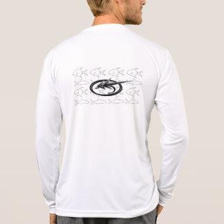 """""""Huesos y permiso"""" por la pesca con mosca de Camisetas"""