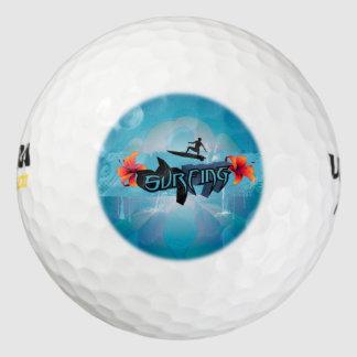 Huésped de la resaca con el chapoteo del agua pack de pelotas de golf