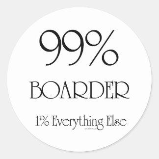 Huésped del 99% etiquetas redondas