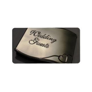 Huésped del boda etiqueta de dirección