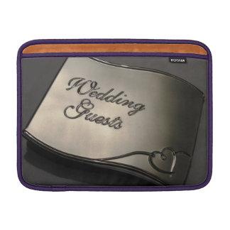 Huésped del boda fundas para macbook air