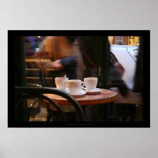 Huésped del café de la atmósfera o poster