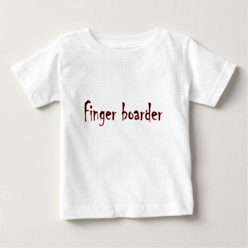 huésped del dedo playera de bebé