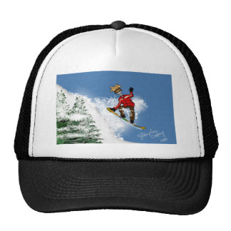 Huésped esquelético de la nieve gorras