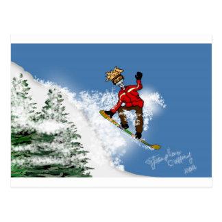 Huésped esquelético de la nieve postales