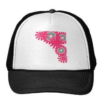 Huésped rosado de la flor gorro