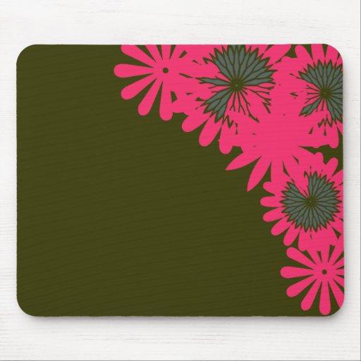 Huésped rosado de la flor alfombrillas de ratón