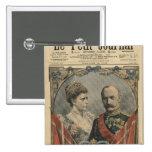 Huéspedes de Francia, rey Frederick VIII y reina Pin Cuadrada 5 Cm