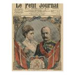 Huéspedes de Francia, rey Frederick VIII y reina Postales