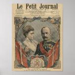 Huéspedes de Francia, rey Frederick VIII y reina Póster