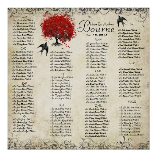 Huéspedes rojas del árbol 100 a 150 del corazón - posters