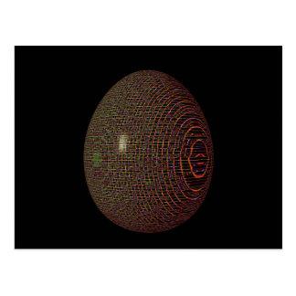 Huevo 1 de Psychadelic Tarjetas Postales