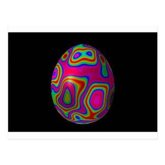 Huevo 5 de Psychadelic Pascua Tarjeta Postal