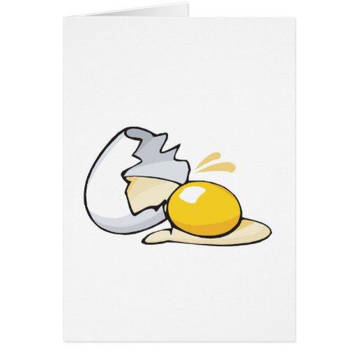 huevo agrietado tarjeta de felicitación