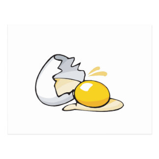 huevo agrietado tarjetas postales