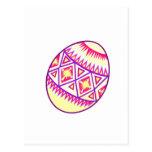 Huevo amarillo postal