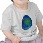 Huevo azul brillante camiseta