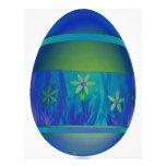 Huevo azul brillante tarjeta publicitaria