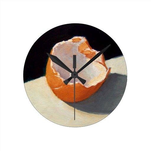 Huevo cáscara quebrado: Artístico: Pintura del rea Relojes