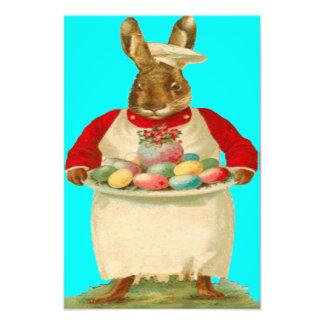Huevo coloreado del conejo de conejito de pascua d impresión fotográfica