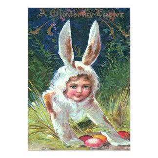 """Huevo coloreado lindo del conejito de pascua del invitación 5"""" x 7"""""""