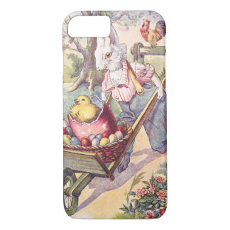 Huevo coloreado polluelo del conejito de pascua funda iPhone 7