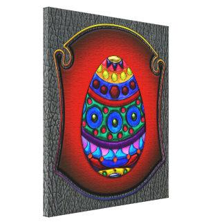 Huevo colorido de lujo enmarcado lona envuelta para galerías