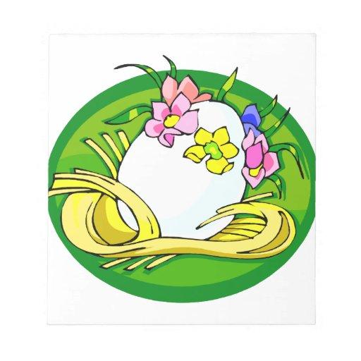 huevo con el verde oval.png de la tiara de la flor libretas para notas
