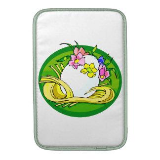 huevo con el verde oval png de la tiara de la flor funda para macbook air