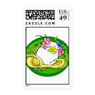 huevo con el verde oval png de la tiara de la flor