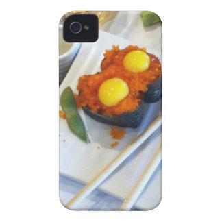 Huevo de codornices en el sushi 4g de los huevos iPhone 4 Case-Mate protectores