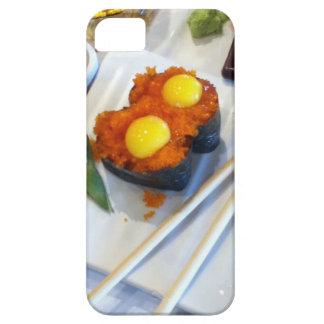 Huevo de codornices en el sushi de los huevos de iPhone 5 carcasa