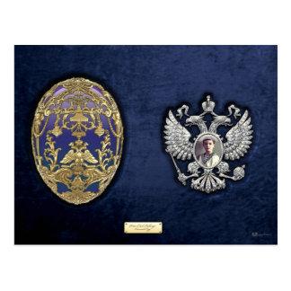 Huevo de Faberge Tsarevich con sorpresa en el terc Tarjetas Postales