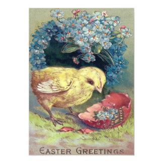 """Huevo de la nomeolvides del polluelo de Pascua Invitación 5"""" X 7"""""""
