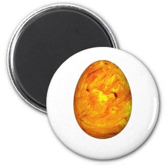 Huevo de Pascua anaranjado del remolino Imán Redondo 5 Cm