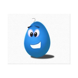 Huevo de Pascua azul Impresiones De Lienzo