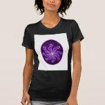 Huevo de Pascua con el estampado de plores pintado Camiseta