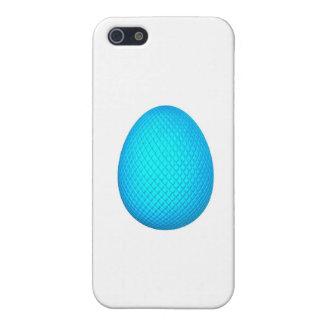 Huevo de Pascua con final metálico azul iPhone 5 Fundas