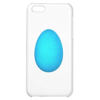 Huevo de Pascua con final metálico azul