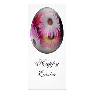 huevo de Pascua con las flores llamativas Plantillas De Lonas