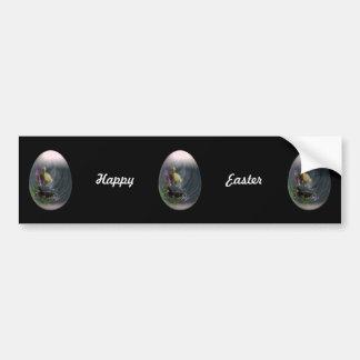 huevo de Pascua con los anadones Etiqueta De Parachoque