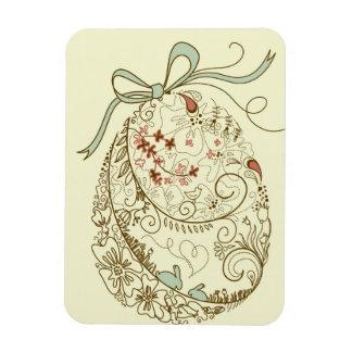 Huevo de Pascua con los elementos florales Imán Flexible