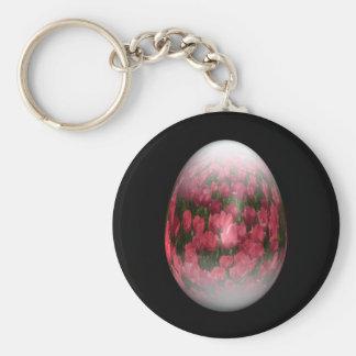 huevo de Pascua con los tulipanes rojos Llavero Redondo Tipo Pin