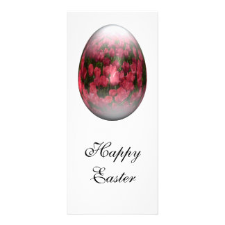 huevo de Pascua con los tulipanes rojos Lona Personalizada