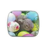 Huevo de Pascua, conejito y pelotas de golf