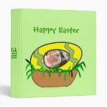Huevo de Pascua de encargo de la foto en plantilla