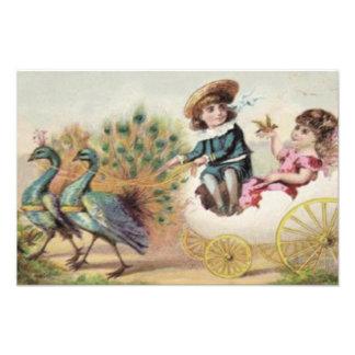 Huevo de Pascua de la avestruz de los niños del Vi Fotografía
