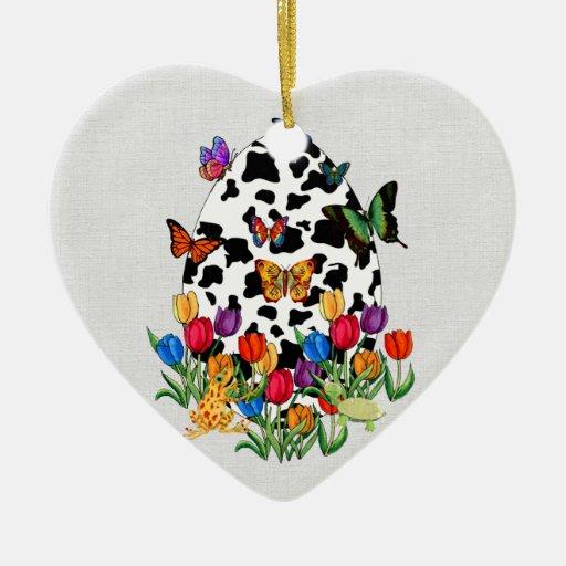 Huevo de Pascua de la piel de la vaca Ornamento Para Reyes Magos