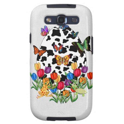 Huevo de Pascua de la piel de la vaca Samsung Galaxy SIII Funda
